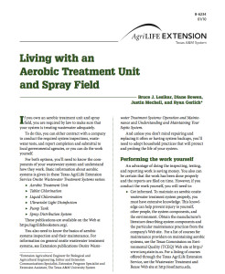 Living with an Aerobic Treatment Unit and Spray Field