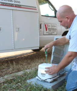 Fixing aerobic septic system smells