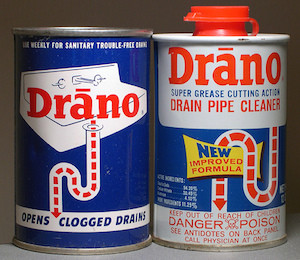 Using Drano chemical drain cleaner septic system