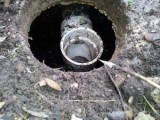 Septic system inlet and outlet baffles