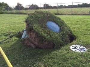 aerobic tank pumping heavy rain floating tank van delden. Black Bedroom Furniture Sets. Home Design Ideas