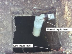 Leaking septic system